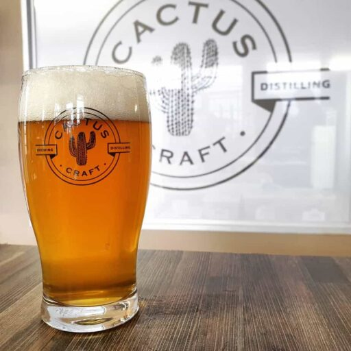 Cactus Beer Glass